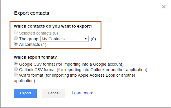 How to Backup Gmail Contacts to CSV and vCard File Format