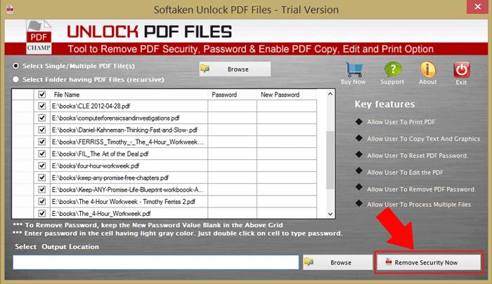 Remove PDF Security