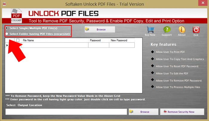 Select PDF Files