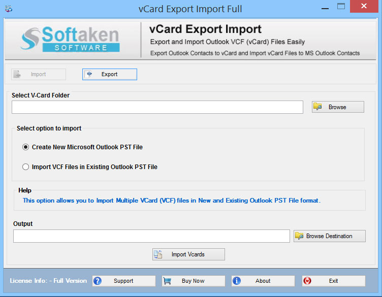 Export Outlook Contacts to VCard